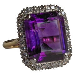 Burmese Ruby of Amethyst Rings