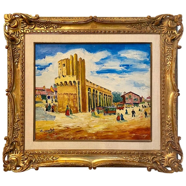 """""""The Busy Village"""" by Elisee Maclet For Sale"""