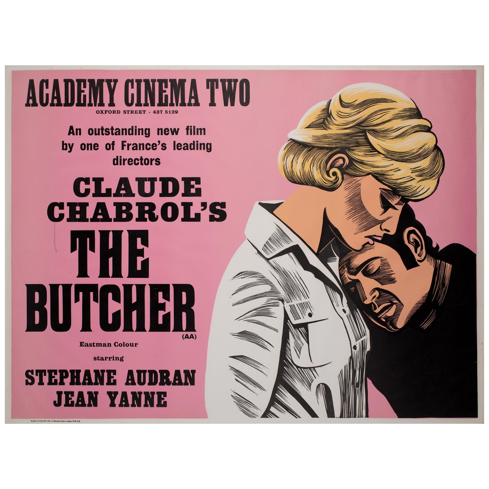 The Butcher 1972 Academy Cinema London UK Quad Film Poster, Strausfeld
