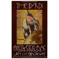 """The Byrds and Fleetwood Mac"" Original Vintage US Concert Poster, 1970"