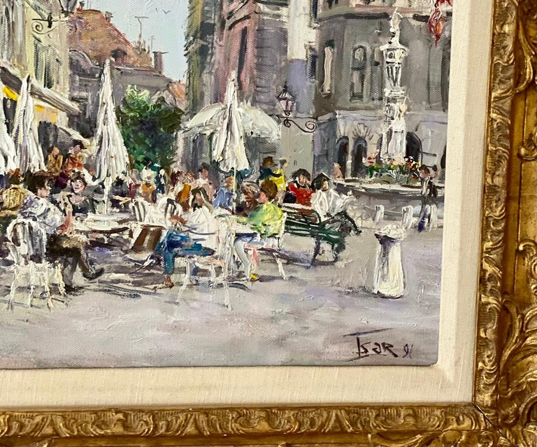 """Oil on canvas by Valery Tsarikovsky signed lower right Tsar. The measurements are 29"""" by 34"""" framed and 20"""" by 27"""" unframed."""