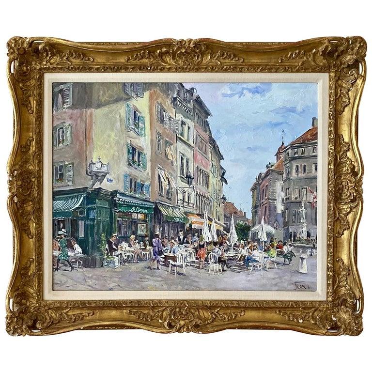 """""""The Cafe"""" by Valery Tsarikovsky For Sale"""