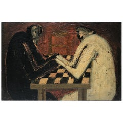 """""""The Cards Players"""" by Barbara Dodge"""
