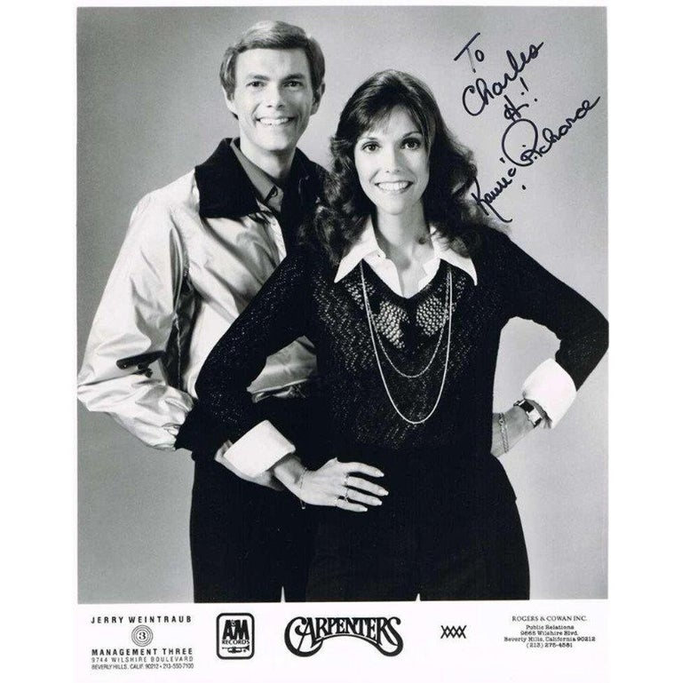 The Carpenters Autographed Photograph For Sale At 1stdibs