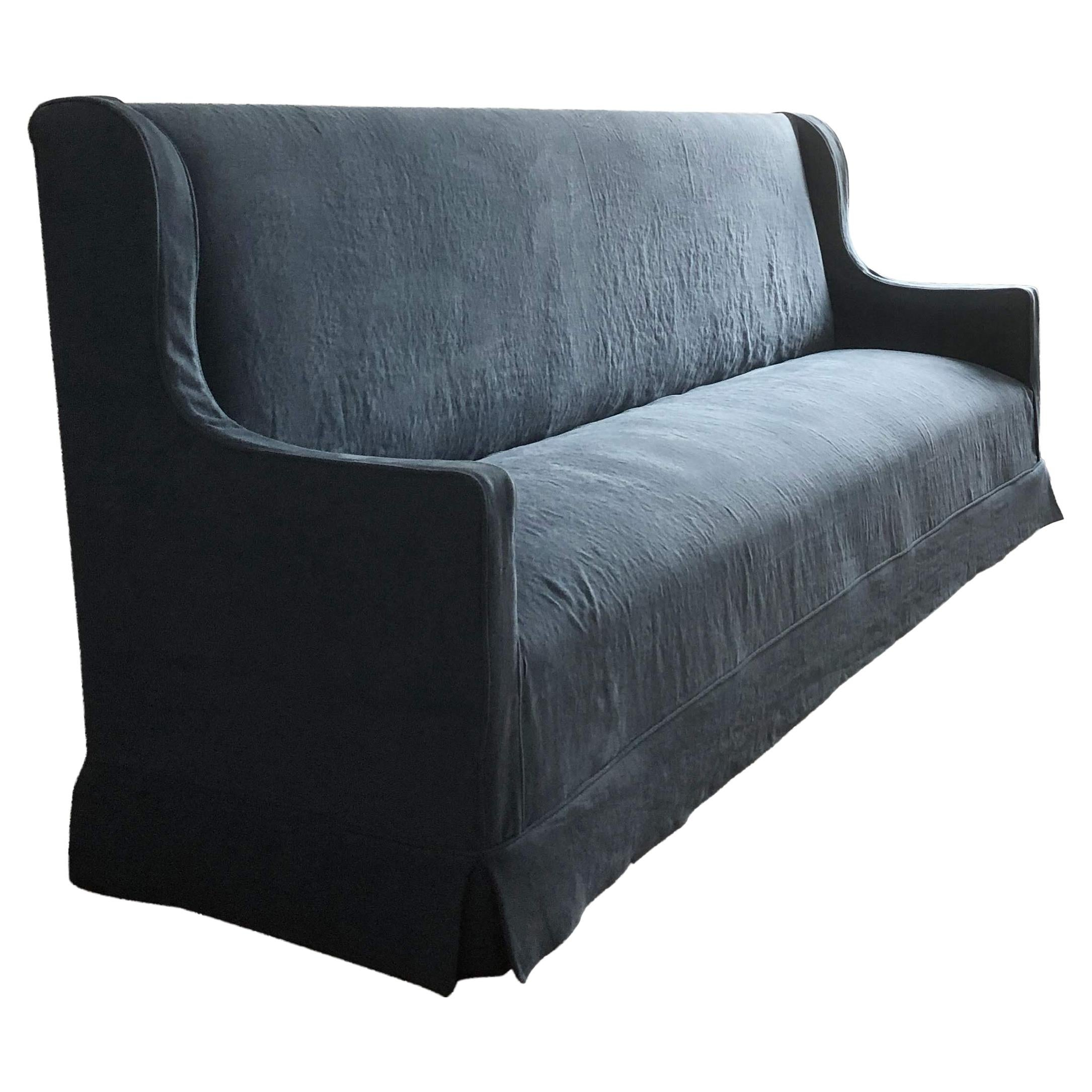 The Cavendish, Bespoke Handmade Belgian Linen Sofa
