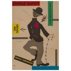 'The Charlie Chaplin Festival' Original Vintage Movie Poster, Polish, 1957
