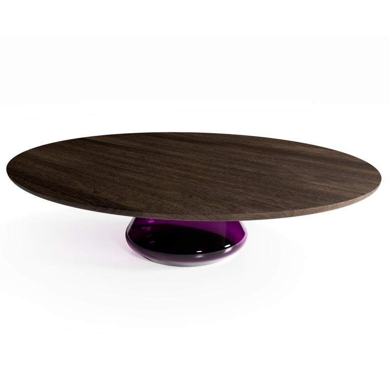 Modern The Charoite Eclispse I, Limited Edition Coffee Table by Grzegorz Majka For Sale