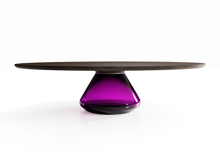 Contemporary The Charoite Eclispse I, Limited Edition Coffee Table by Grzegorz Majka For Sale