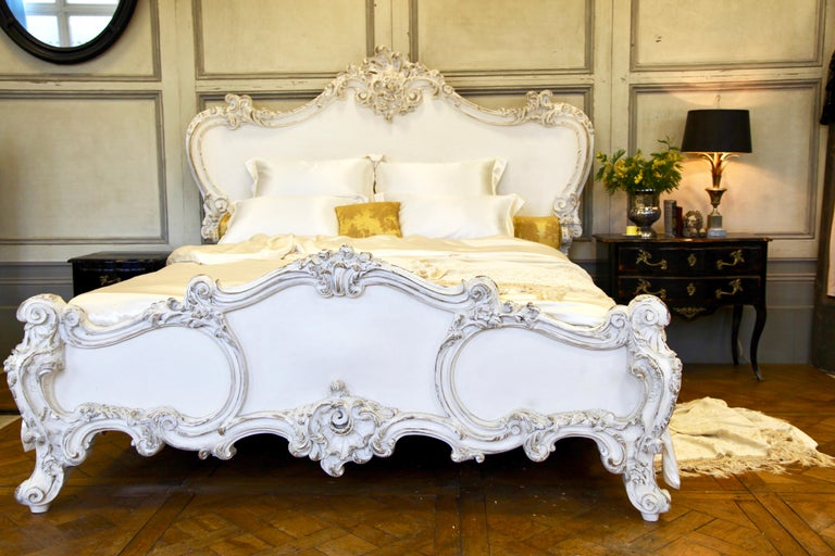 The Cherub Bed Hand Crafted In The Rococo Style Made By La Maison London For Sale 6