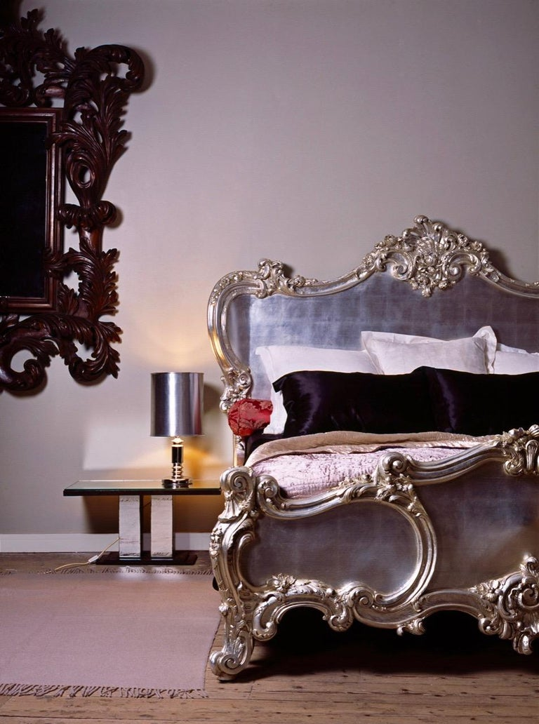 Hand-Carved The Cherub Bed Hand Crafted In The Rococo Style Made By La Maison London For Sale