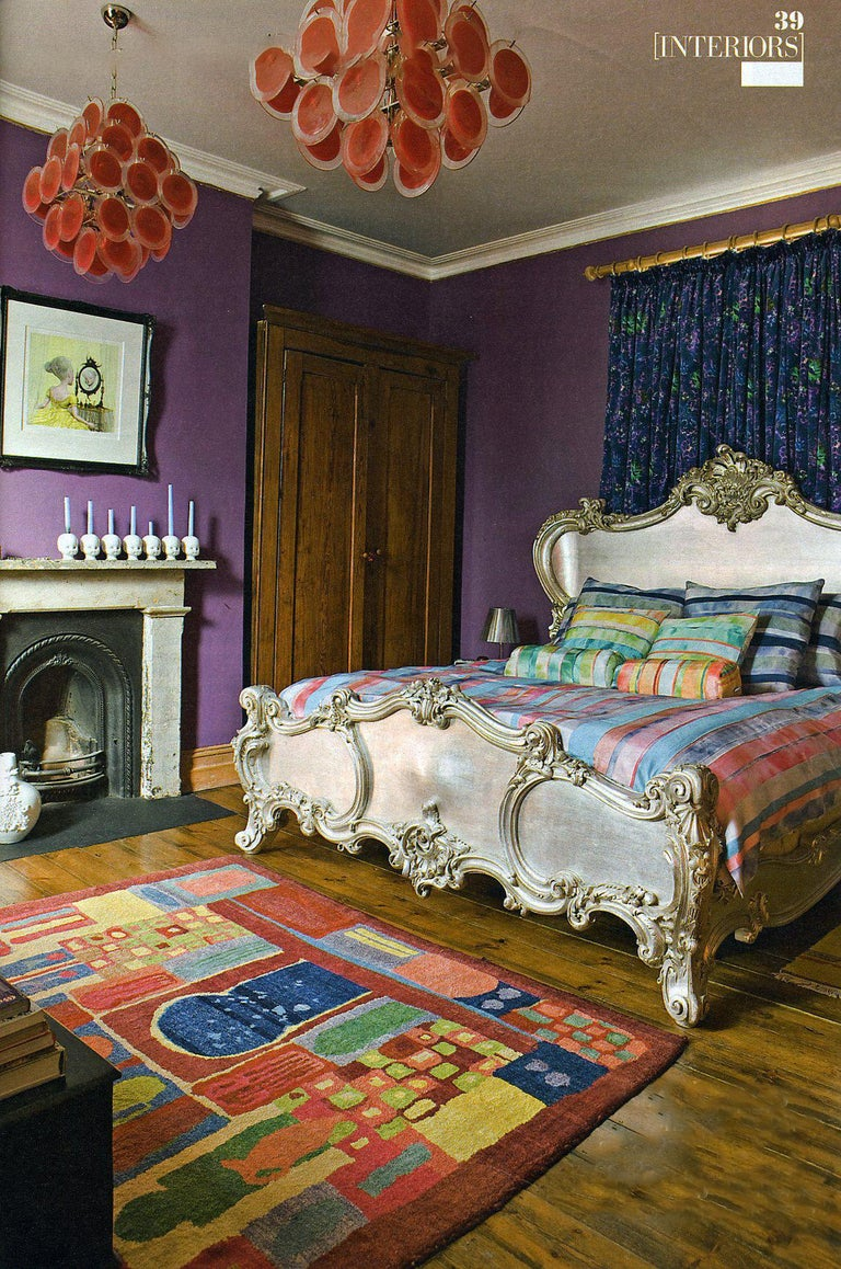 The Cherub Bed Hand Crafted In The Rococo Style Made By La Maison London In Excellent Condition For Sale In London, GB