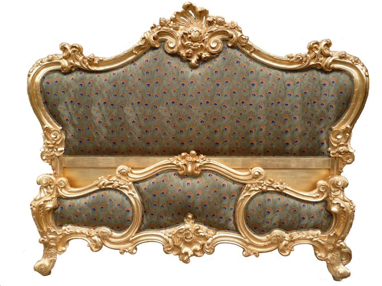 Gesso The Cherub Bed Hand Crafted In The Rococo Style Made By La Maison London For Sale