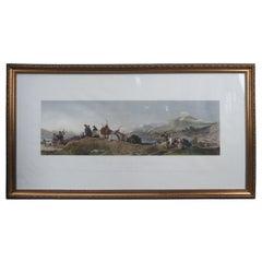 The Chiefs Return From Deer Stalking After Sir Edwin Landseer Colored Engraving