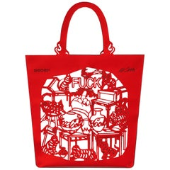 The China Bag 'Cats & Dogs' Tote by Ai Weiwei