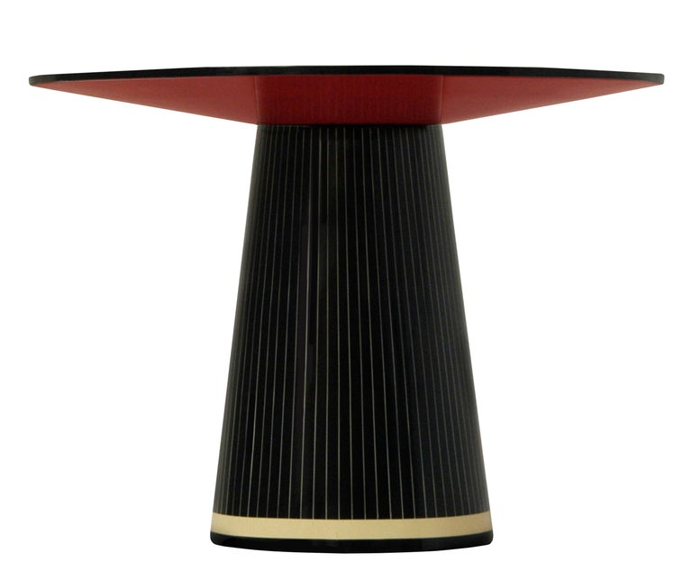The Circus Gala Black and White Side Table by Matteo Cibic is a gorgeous versatile small round table.   India's handicrafts are as multifarious as its cultures, and as rich as its history. The art of bone and horn inlay is omnipresent here. Artisans