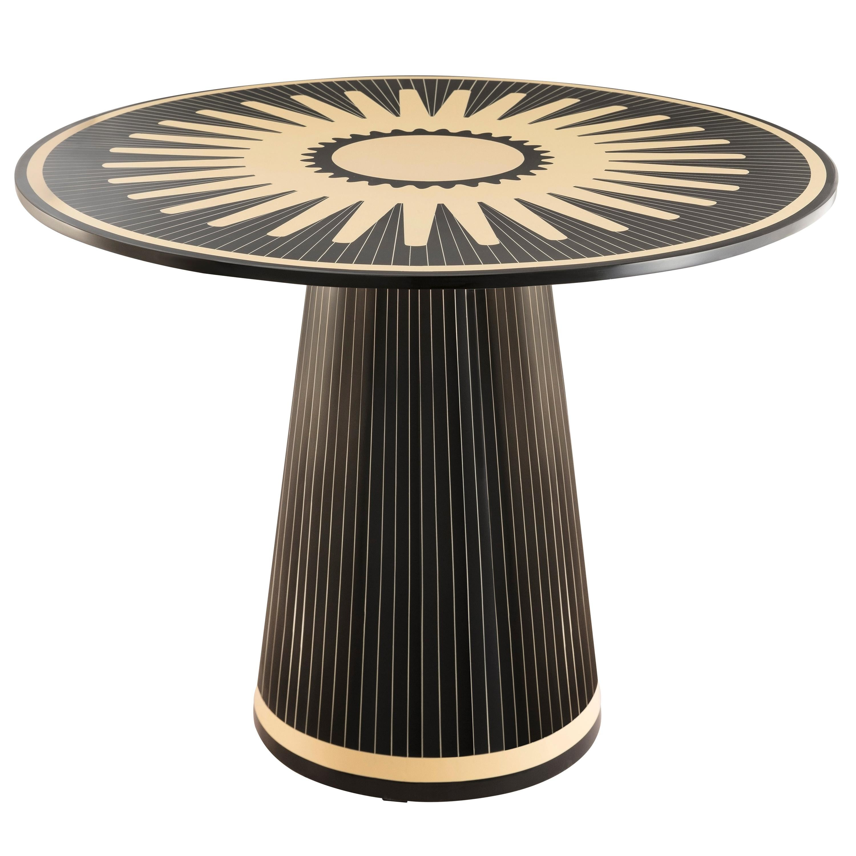 Circus Gala Black and White Side Table by Matteo Cibic
