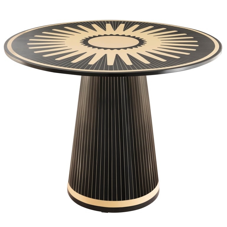 Circus Gala Black and White Side Table by Matteo Cibic For Sale