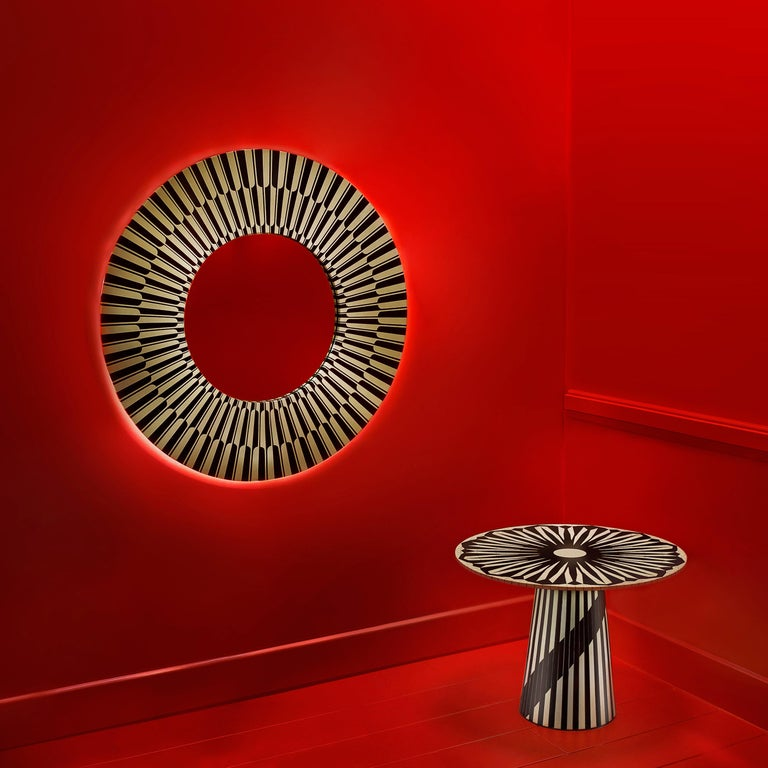 Modern Circus Black and White Side Table by Matteo Cibic For Sale