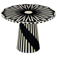 Circus Black and White Side Table by Matteo Cibic