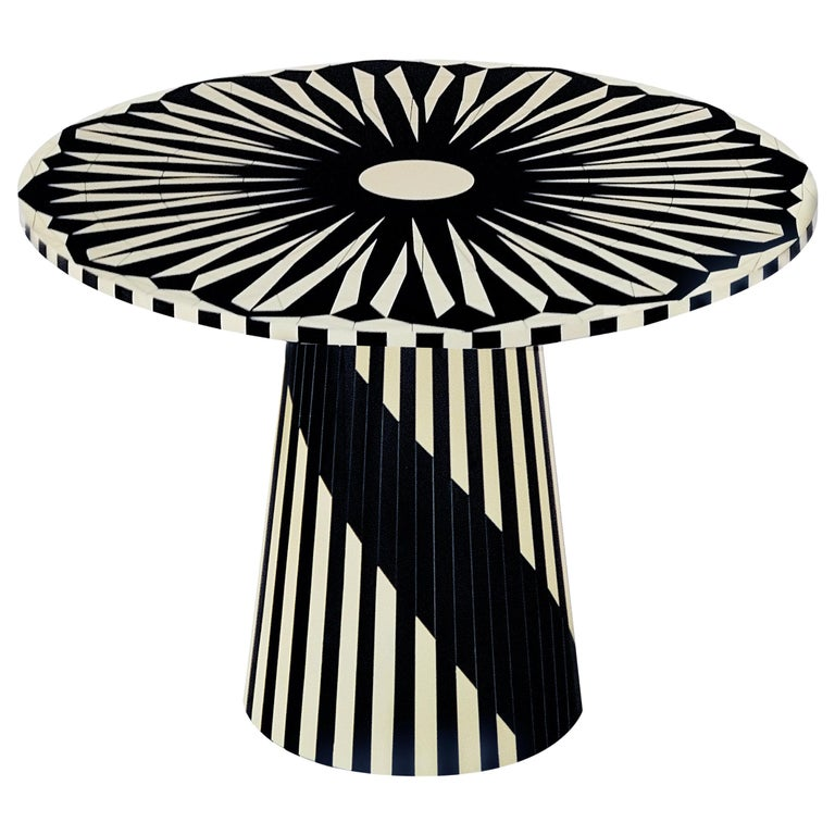 Circus Black and White Side Table by Matteo Cibic For Sale