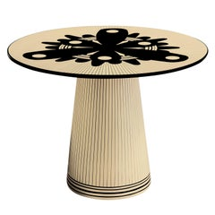 Circus Spree Black and White Side Table by Matteo Cibic