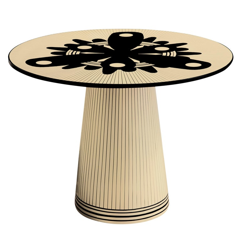 Circus Spree Black and White Side Table by Matteo Cibic For Sale
