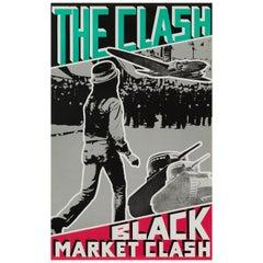 "The Clash ""Black Market Clash"" Original Vintage Promotional Poster, US, 1980"