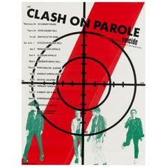 """The Clash """"Clash On Parole"""" Original Vintage Tour Poster, British, 1978"""