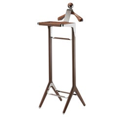 Classical Valet Stand by Honorific in S Steel and American Black Walnut