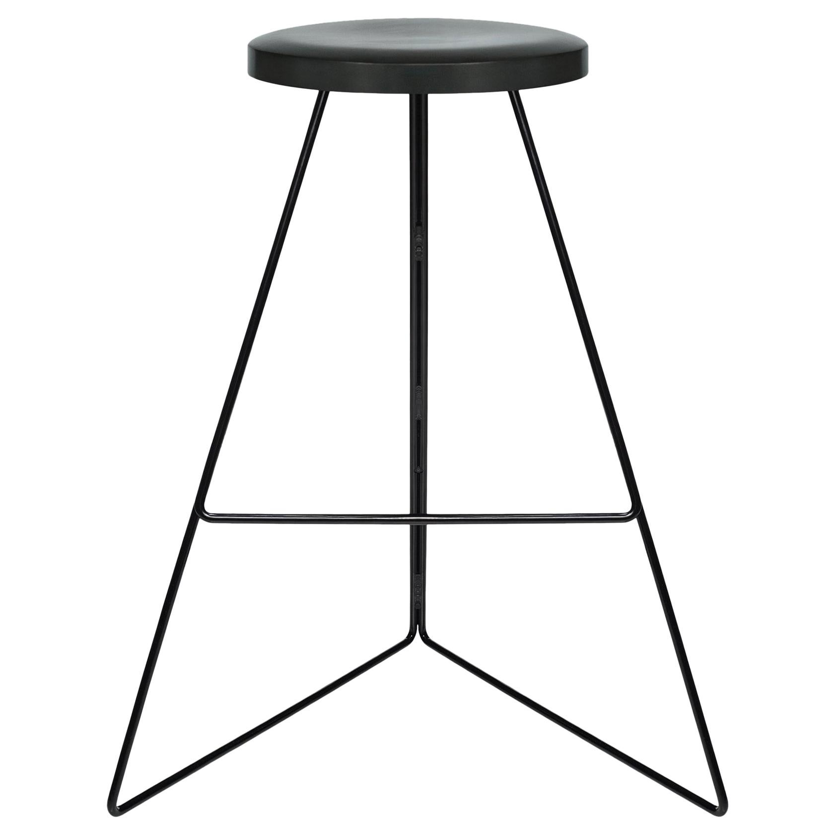 Coleman Stool, Black and Charcoal, 54 Variations