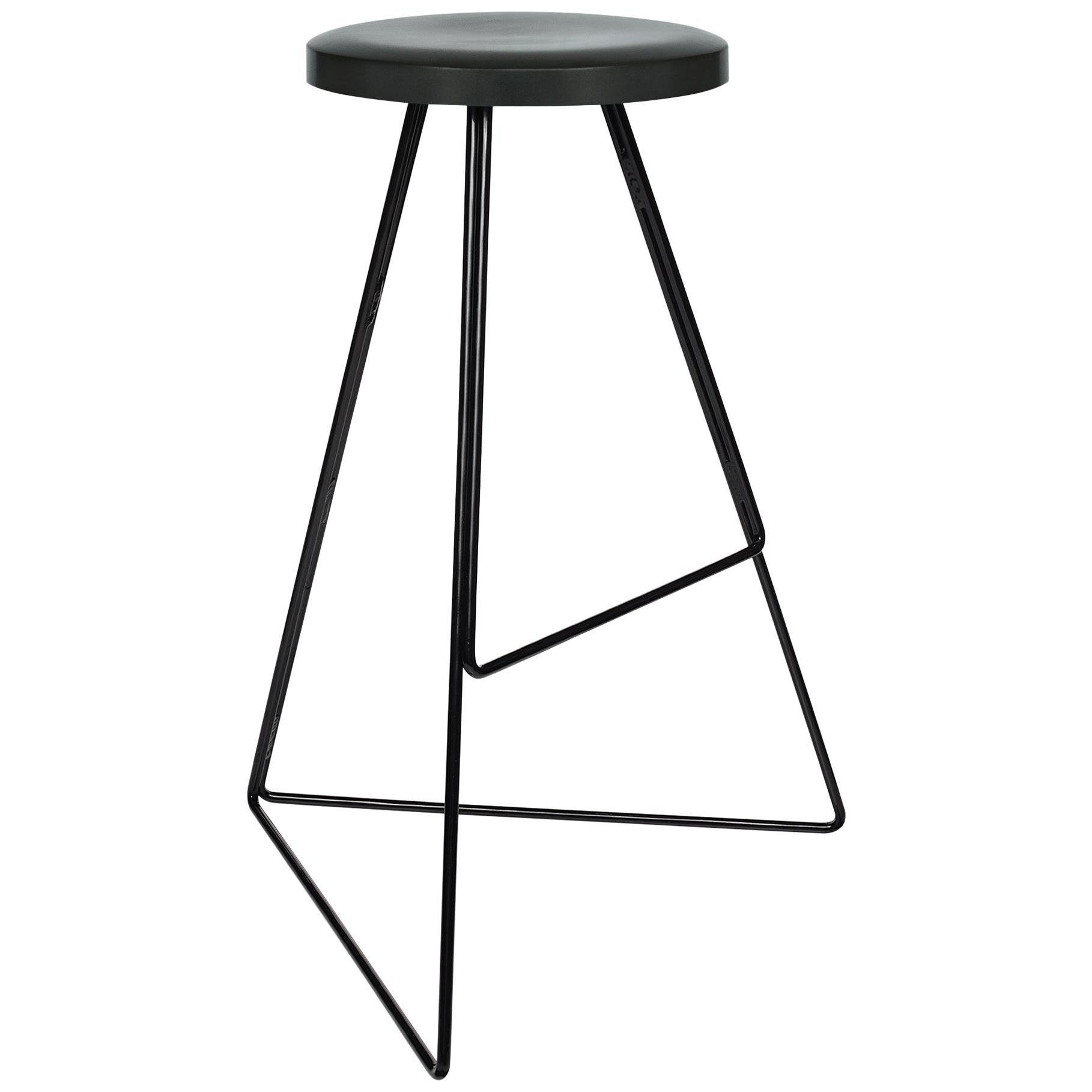 The Coleman Stool, Black and Charcoal, 54 Variations
