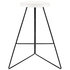 The Coleman Stool, Black and White, Counter Height