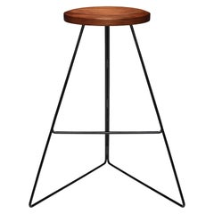 The Coleman Stool, Black Walnut and Black, Counter Height, Made in USA