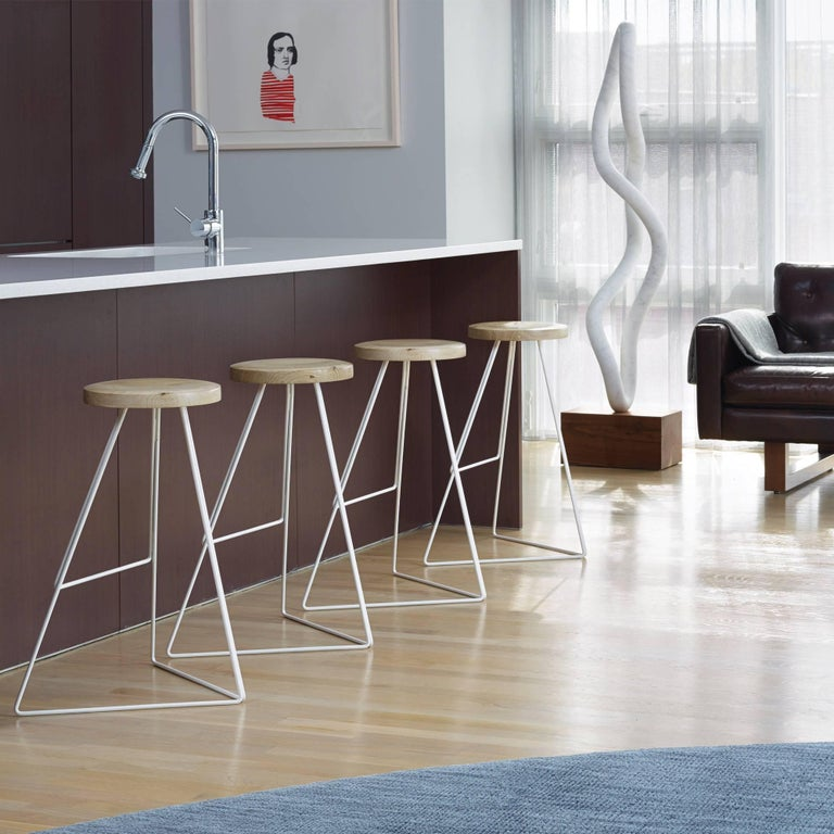 Coleman Stool, Natural Steel and Walnut, 54 Variations For Sale 2