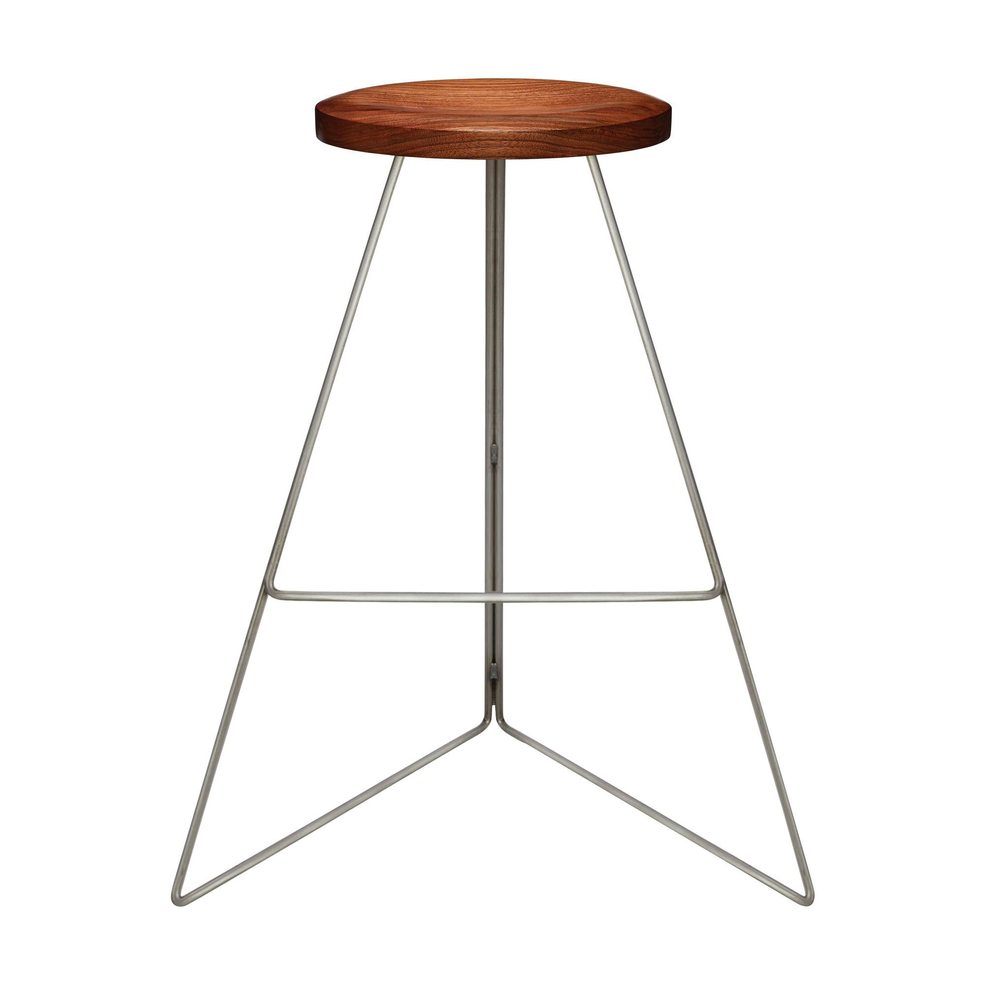 The Coleman Stool, Natural Steel and Walnut, 54 Variations