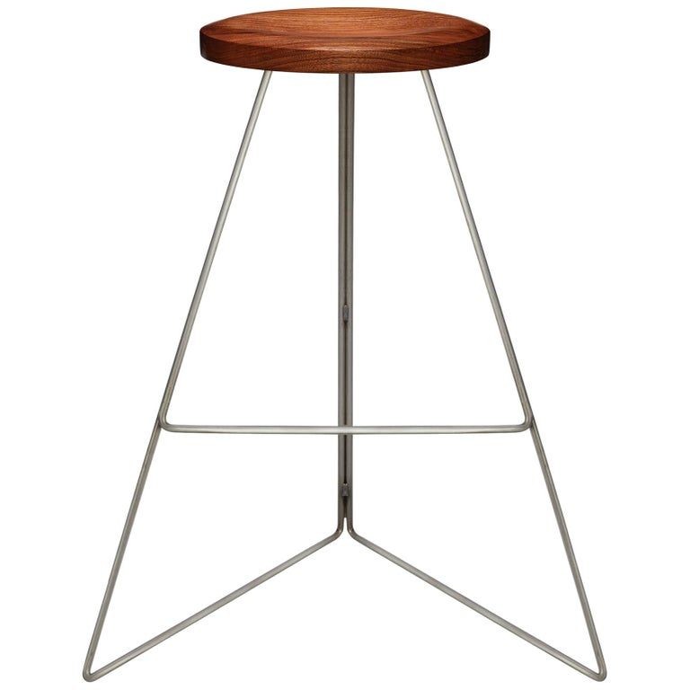 Coleman Stool, Natural Steel and Walnut, 54 Variations For Sale