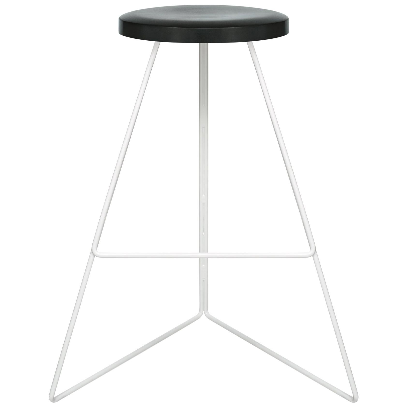 The Coleman Stool, White and Charcoal Cast Concrete, 54 Variations