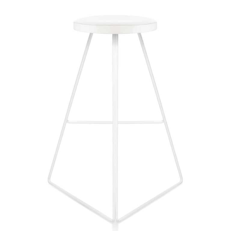 Modern The Coleman Stool, White and White Marble, 54 Variations For Sale