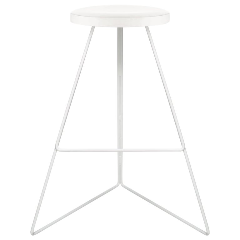The Coleman Stool, White and White Marble, 54 Variations For Sale