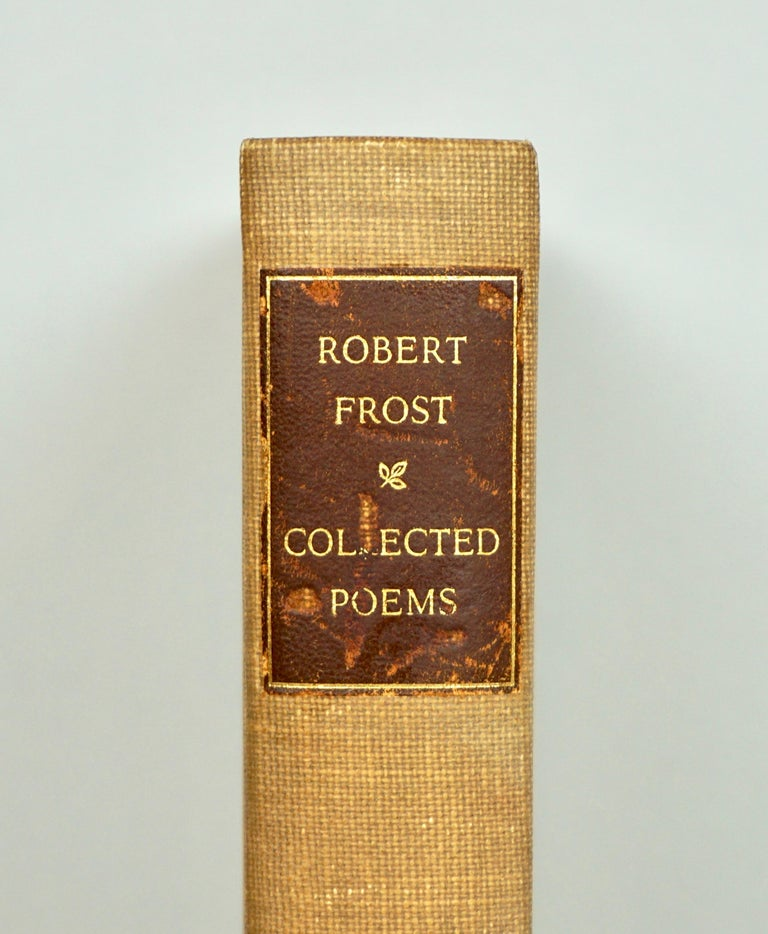 The Collected Poems of Robert Frost, published by Random House, New York 1930, first edition. One of 1000 copies printed at the Spiral Press and signed by Frost, this example being number 25. The first collected edition of Frost's poems marks the
