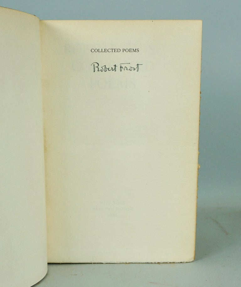 Robert Frost Collected Poems Signed First Edition  In Good Condition In San Francisco, CA
