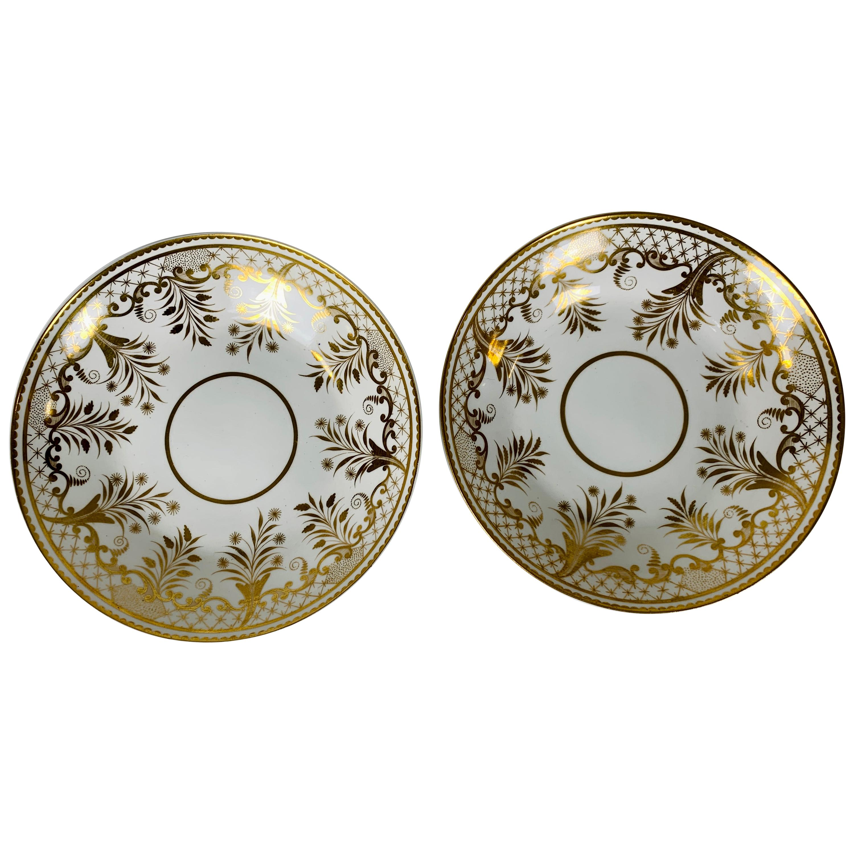 The Collection of Mario Buatta A Pair of White & Gold Dishes England, circa 1820