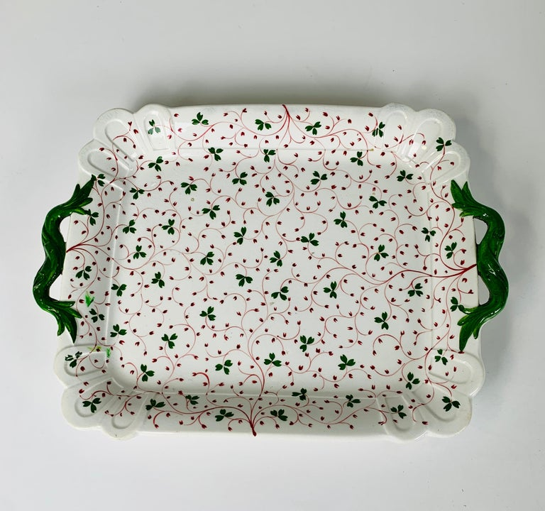 The Collection of Mario Buatta Three Dishes with Floral Patterns, England c-1830 In Excellent Condition In Katonah, NY