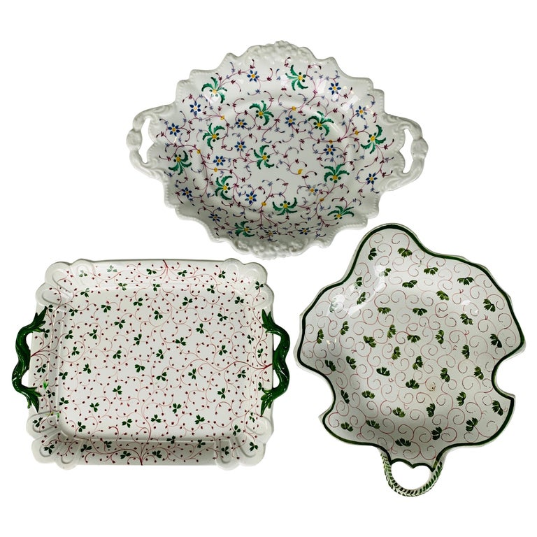 The Collection of Mario Buatta Three Dishes with Floral Patterns, England c-1830