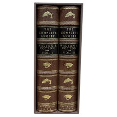 The Complete Angler by Izaak Walton & Charles Cotton, 2-Vol. Leather Set, 1836