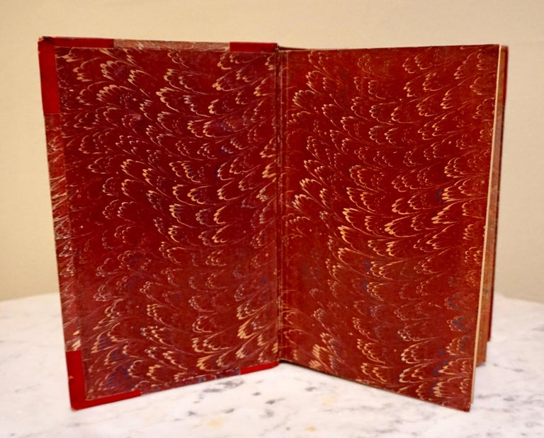 The Complete Works of Charles Dickens Bound in Red Leather and Marbleized Paper For Sale 2