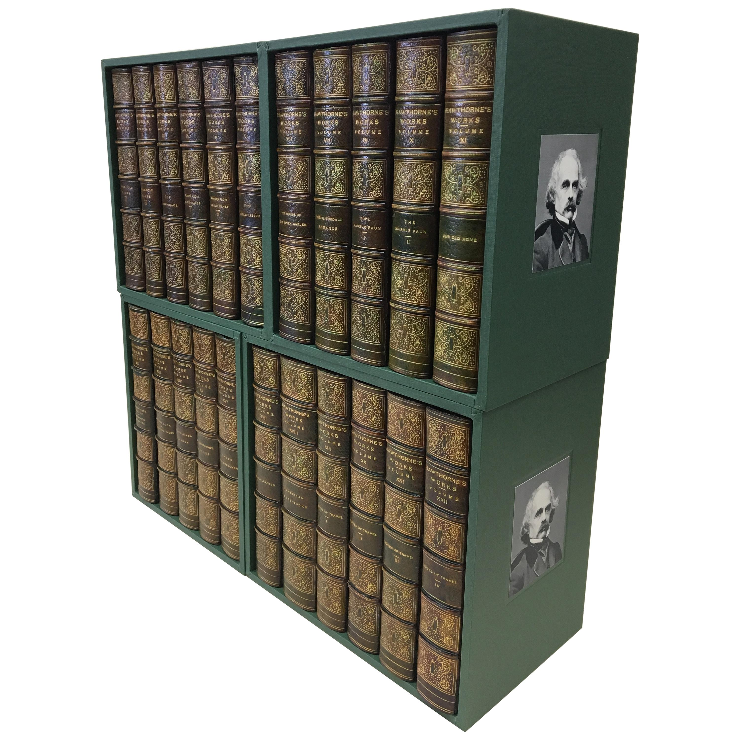 """""""Complete Writings of Nathaniel Hawthorne"""" Signed Limited Edition 23/500, 1900"""