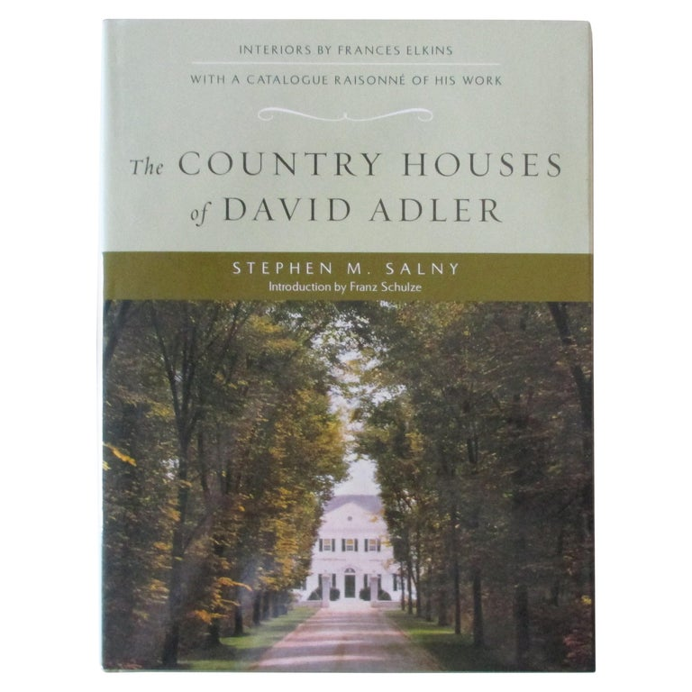 The Country Houses of David Adler For Sale