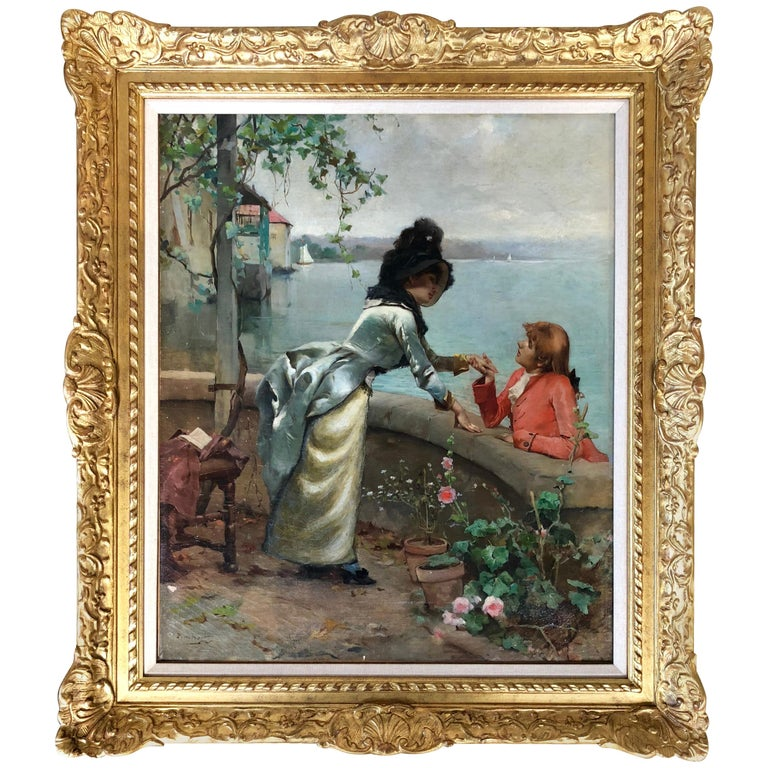 """The Courtship"" by Auguste Emile Pinchart For Sale"