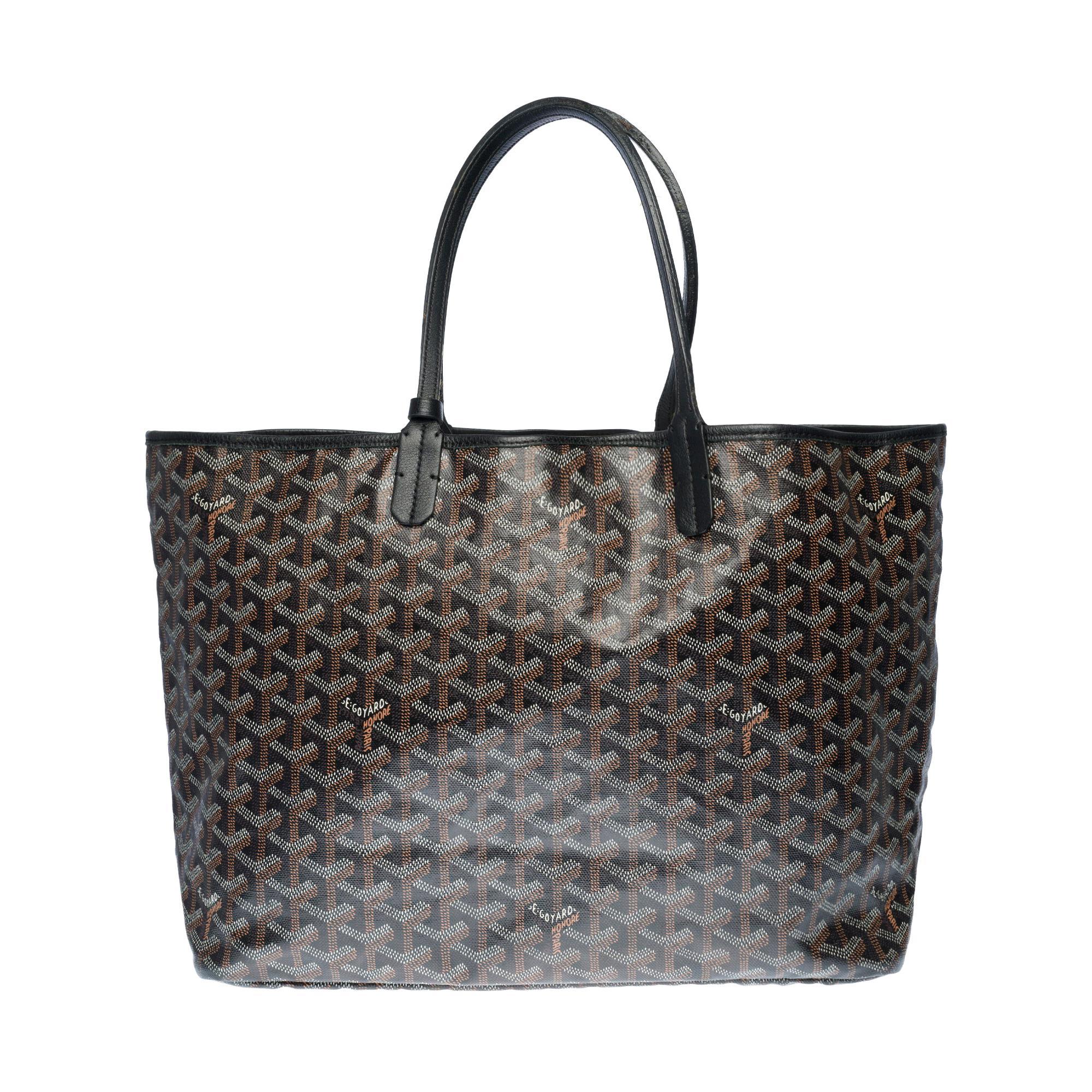 The Coveted Goyard Saint-Louis Tote bag in black Goyardine canvas